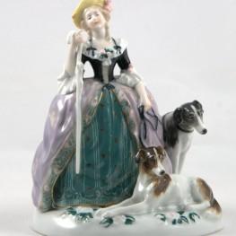 Дама с тростью и собаками, Karl Ens, Германия, 1920-30 гг