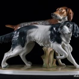 Две охотничьих собаки, Wagner & Apel, Германия, 1950 гг