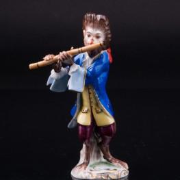 Обезьяна с флейтой, Volkstedt, Германия, сер. 20 в