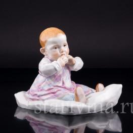 Малыш на подушке, Meissen, Германия, вт. пол. 20 в