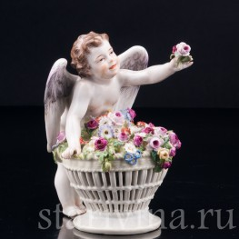 Ангелочек с корзиной цветов, Meissen, Германия, нач. 20 в