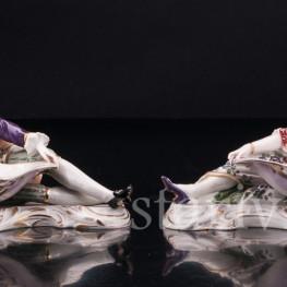Пара с вазами, солонки, Volkstedt, Германия, 19 в