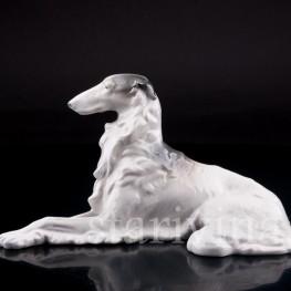 Фарфорвая статуэтка собаки Борзая, Metzler & Ortloff, Германия, 1930-72 гг.
