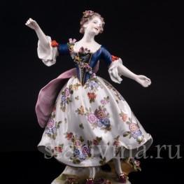 Статуэтка балерины из фарфора Танцовщица Камарго, Volkstedt, Германия, до 1935 г.