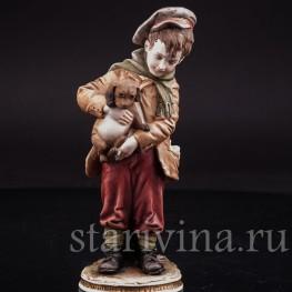 Мальчик со щенком, Bruno Merli, Италия, вт. пол. 20 в