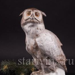 Фарфоровая статуэтка птицы Ушастая сова, Karl Ens, Германия, нач. 20 в.